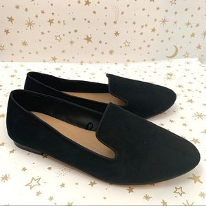 Torrid | Faux Suede Black Loafers Size 11 Wide